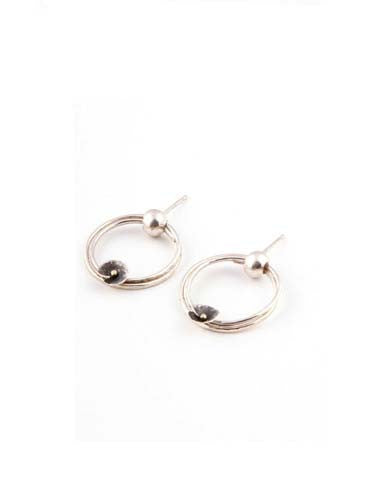 Silver Hoop Earrings (JM350) - Janet Moran - Monkey Puzzle Jewellery