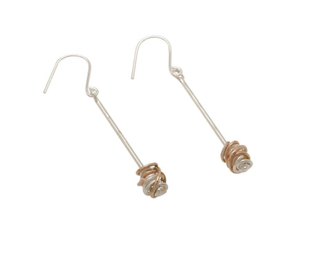 Stick Drop Earrings Mix - Tara Kirkpatrick - Monkey Puzzle Jewellery