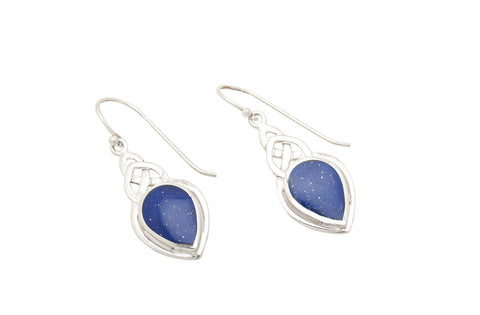 Celtic Lapis Lazuli Drops - David Scott-Walker - Monkey Puzzle Jewellery