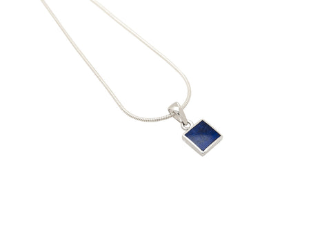 Square Lapis Pendant - David Scott-Walker - Monkey Puzzle Jewellery