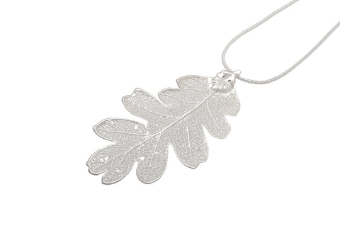 Small Silver Oak Leaf - Two Skies - Monkey Puzzle Jewellery