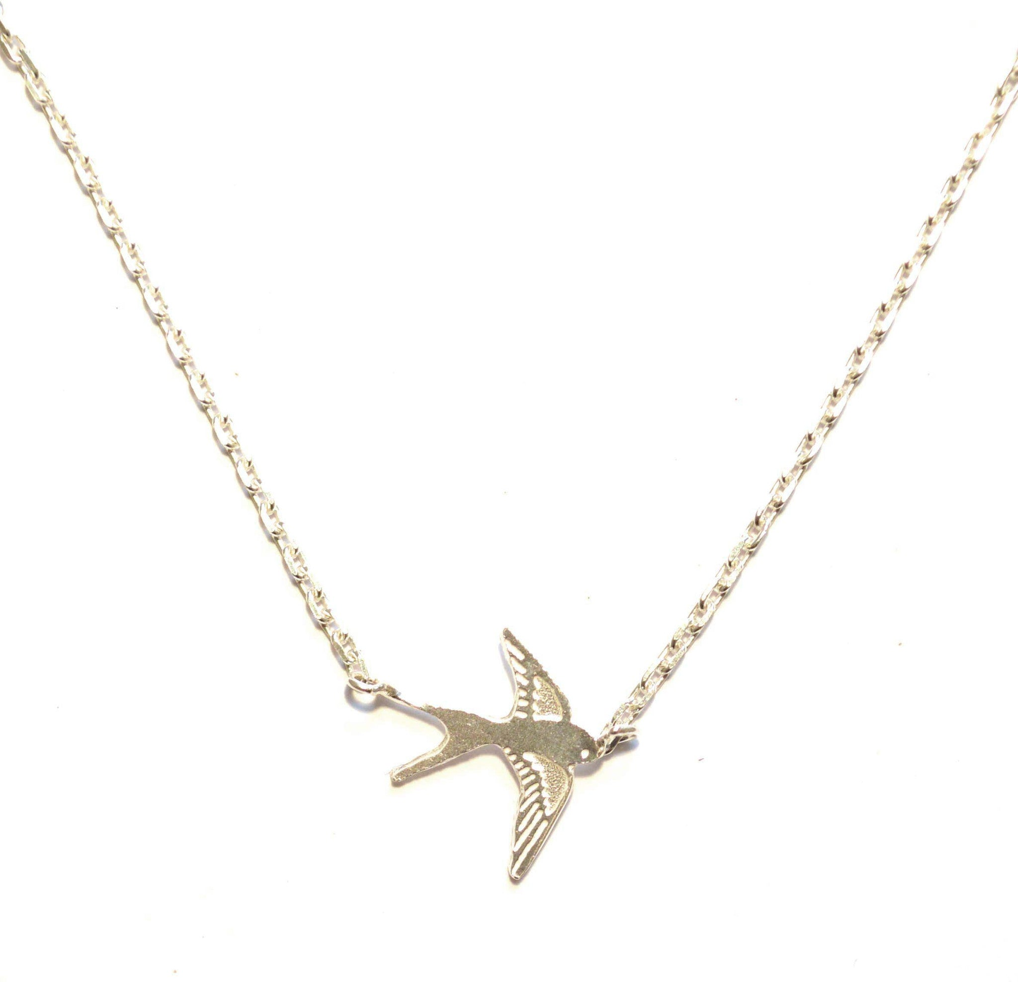Swallow pendant buy online at monkey puzzle jewellery swallow pendant amanda coleman monkey puzzle jewellery mozeypictures Gallery