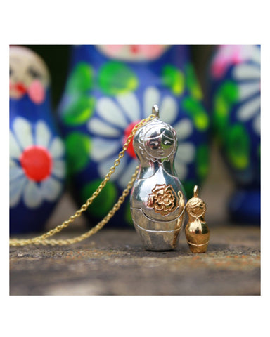 Russian Doll Necklace - Reeves & Reeves - Monkey Puzzle Jewellery