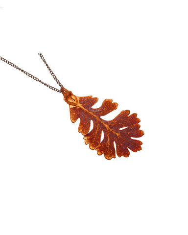 Copper Plated Oak Leaf - Two Skies - Monkey Puzzle Jewellery