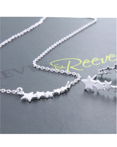 Silver Shooting Star Necklace - Reeves & Reeves - Monkey Puzzle Jewellery