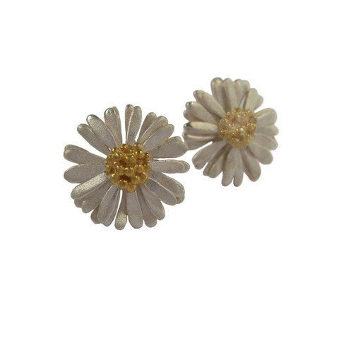 Medium Daisy Stud Earrings - McMaster and Tingley - Monkey Puzzle Jewellery