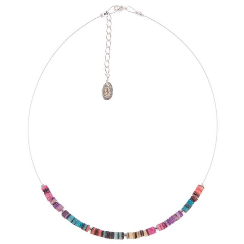 Rainbow Shell Shimmer Necklace