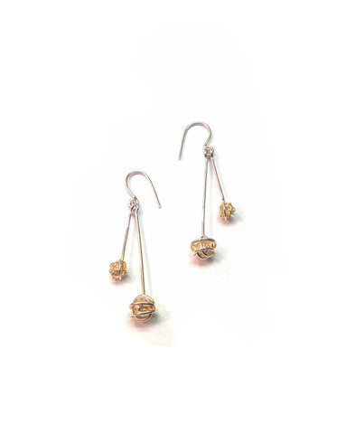 Gold Plated Silver Ball Earrings - Tara Kirkpatrick - Monkey Puzzle Jewellery