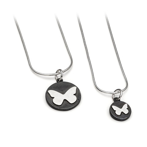 Single Butterfly Disc Pendant