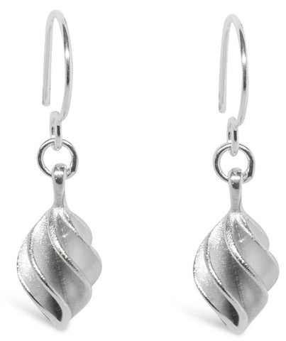 Silver Verso Small Drop Earrings - Collette Waudby - Monkey Puzzle Jewellery