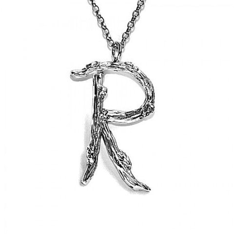 Twig Letter R (Rose Gold Plated) - Pretty Wild Jewellery - Monkey Puzzle Jewellery
