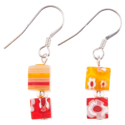 Daisy Cubed Earrings
