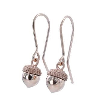 Rose Acorn Earrings - Reeves & Reeves - Monkey Puzzle Jewellery