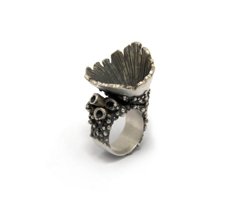 Large Lichen Cone Ring