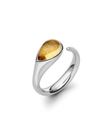 Citrine Silver Cornerstone Ring - Cornerstone Creations - Monkey Puzzle Jewellery