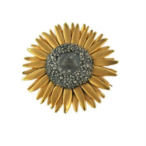 Large Sunflower Brooch