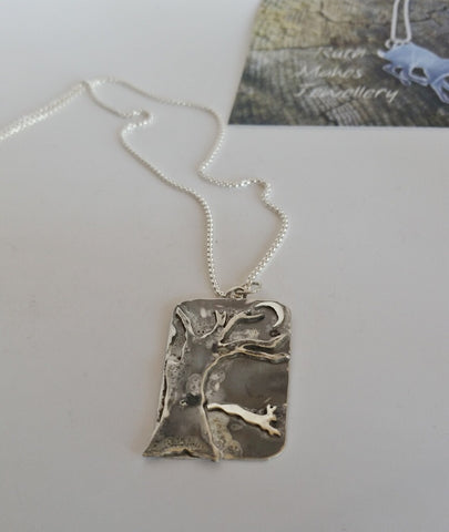 Leaping Hare at the Edge of the Woods Pendant