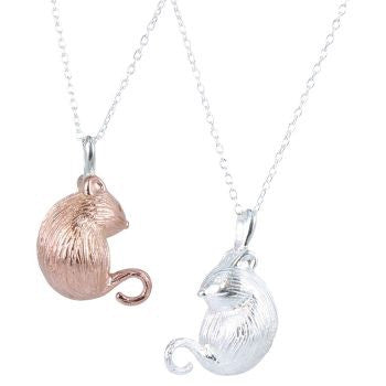 Martha Mouse Necklace - Reeves & Reeves - Monkey Puzzle Jewellery