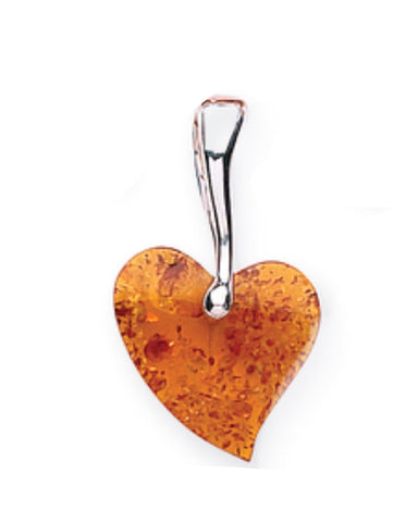 Amber Heart Pendant - Goldmajor - Monkey Puzzle Jewellery