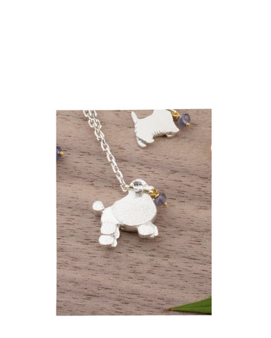 Poodle On Lead Pendant - Amanda coleman - Monkey Puzzle Jewellery