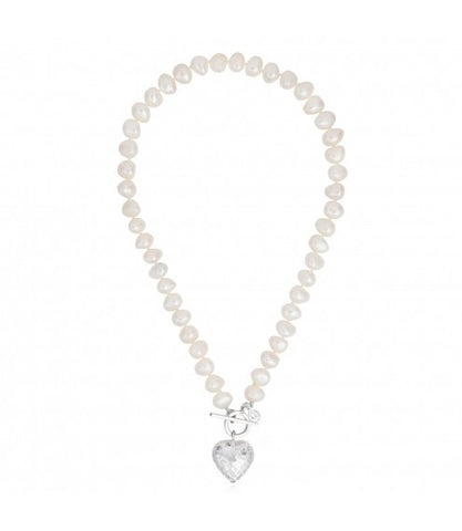 Bella Heart Necklace white - Claudia Bradby - Monkey Puzzle Jewellery