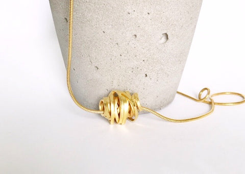 Scribble Pendant in 18ct Gold Plated Silver
