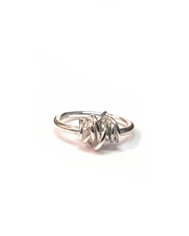 Silver Ring with Wrapped Wire - Tara Kirkpatrick - Monkey Puzzle Jewellery