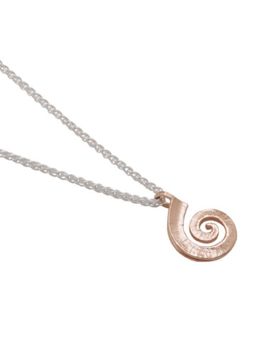 Rose Gold Spiral Pendant (VP6G-sc) - Collette Waudby - Monkey Puzzle Jewellery