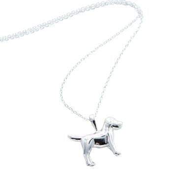 Silver Dog Necklace - Reeves and Reeves - Monkey Puzzle Jewellery