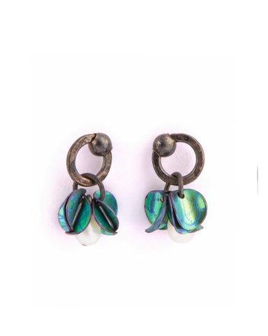 Niobium And oxidised Silver Earrings (JM316) - Janet Moran - Monkey Puzzle Jewellery