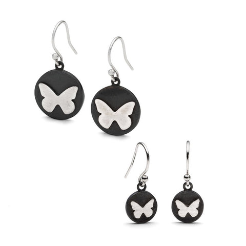 Single Butterfly Drop Earrings