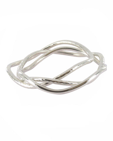 Three Wave Bangle - Reeves & Reeves - Monkey Puzzle Jewellery