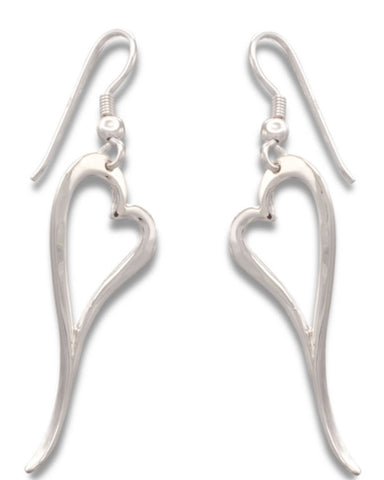 Zoe Heart Earrings - John Garland Taylor - Monkey Puzzle Jewellery
