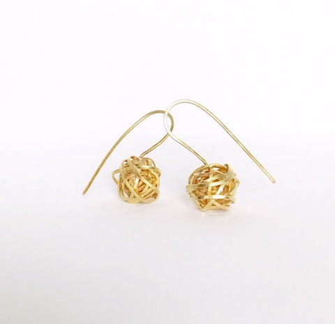 Scribble Earrings in 18ct Gold Plated Silver