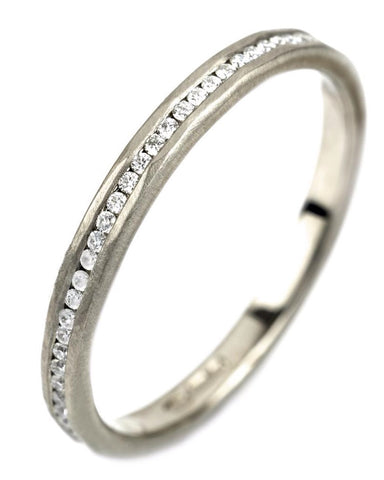 18ct White gold Eternity Ring (HFE-01) - James Newman - Monkey Puzzle Jewellery