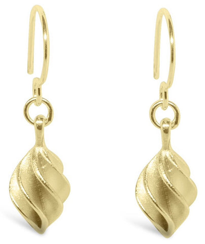 Gold Verso Small Drop Earrings - Collette Waudby - Monkey Puzzle Jewellery