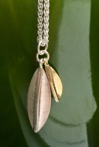 Botanica Pendant in Silver and 9ct Gold.