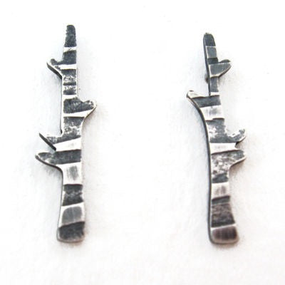 Birch Studs - Becky Crow - Monkey Puzzle Jewellery