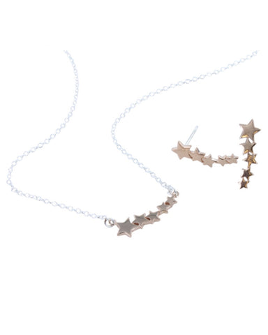 Rose Gold Shooting Star Necklace - Reeves & Reeves - Monkey Puzzle Jewellery
