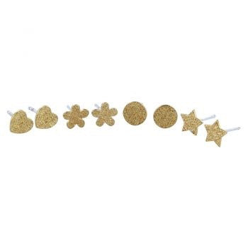 Textured Gold Studs - Reeves & Reeves - Monkey Puzzle Jewellery