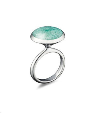 Fanfare Ring with Silver and Amazonite - Cornerstone Creations - Monkey Puzzle Jewellery