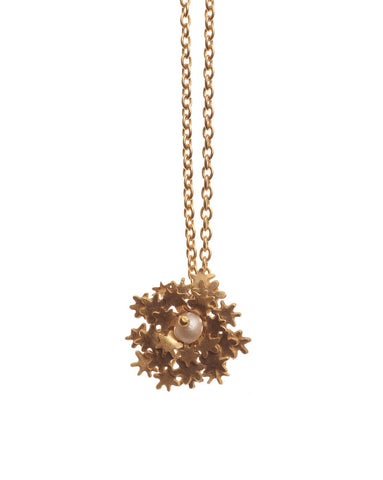 Cow Parsley Pendant with Pearl - Amanda coleman - Monkey Puzzle Jewellery