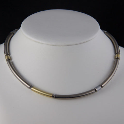 Steel and Silver Necklet