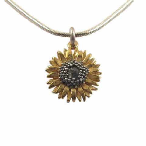 Small Sunflower Pendant - McMaster and Tingley - Monkey Puzzle Jewellery