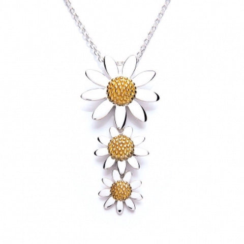 Triple Drop Daisy Pendant - Daisy - Monkey Puzzle Jewellery