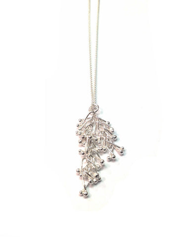 Silver Droplet Necklace - Tara Kirkpatrick - Monkey Puzzle Jewellery