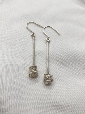 Pearl Wire Stick Drop Earrings