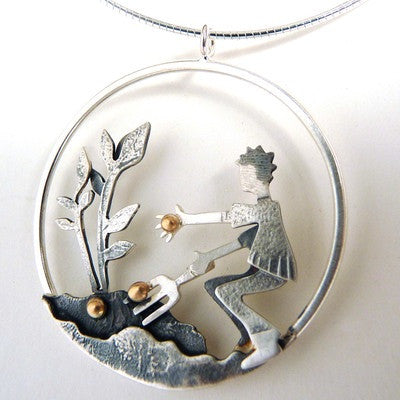 Sowing Seeds Pendant - Becky Crow - Monkey Puzzle Jewellery