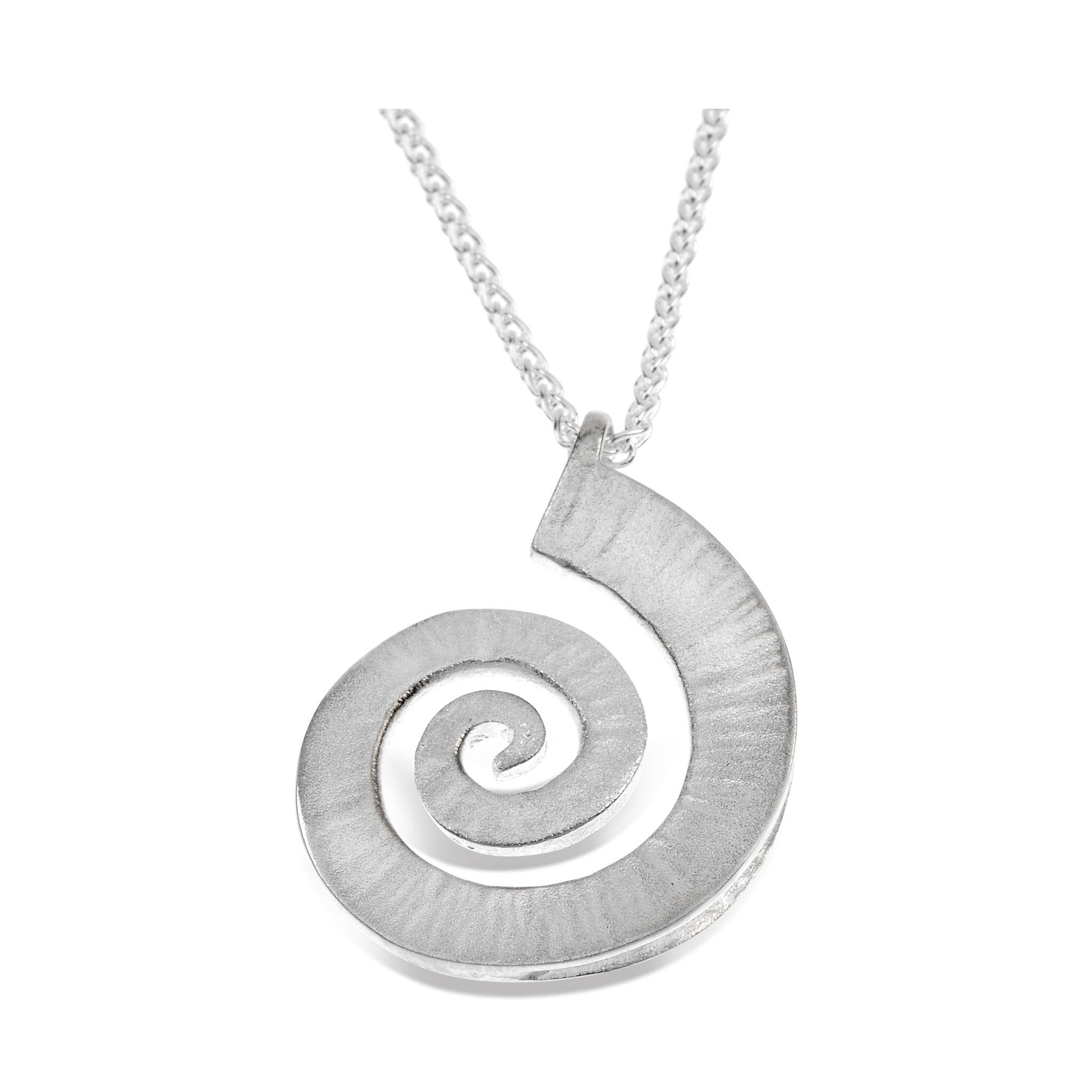 store crystal silver spiral necklace toned clear pendant