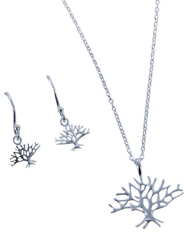 Winter Tree Pendant - Reeves & Reeves - Monkey Puzzle Jewellery